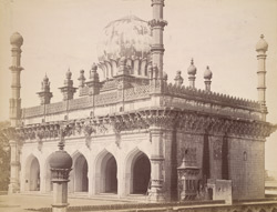 View from the north-east of the Ibrahim Rauza Mosque, Bijapur.